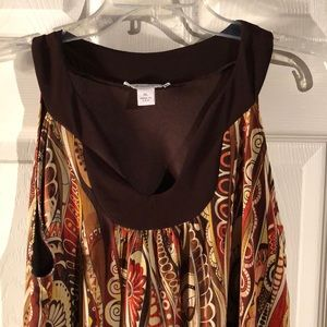 Dressbarn brown blouse tank